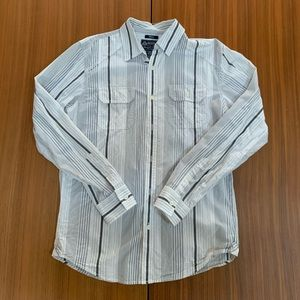 American Rag Striped Long Sleeve Button Down Shirt